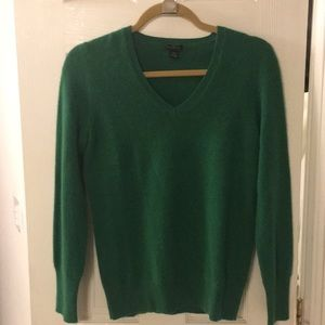 Only Mine Green Cashmere Sweater